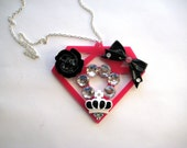 Scene Diamond Necklace HUGE decoden Kawaii Scene Queen Kitsch lolita