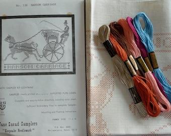Jane Snead Samplers Vintage Embroidery Kit 536 Hansom Carriage Sampler