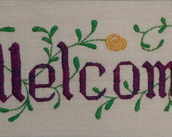 Jane Snead Samplers Vintage Embroidery Kit 420 Miniature Welcome
