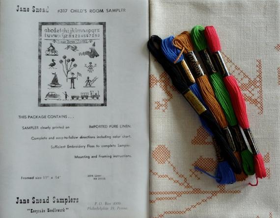 Jane Snead Samplers Vintage Cross Stitch Embroidery Kit 317 Child's Room