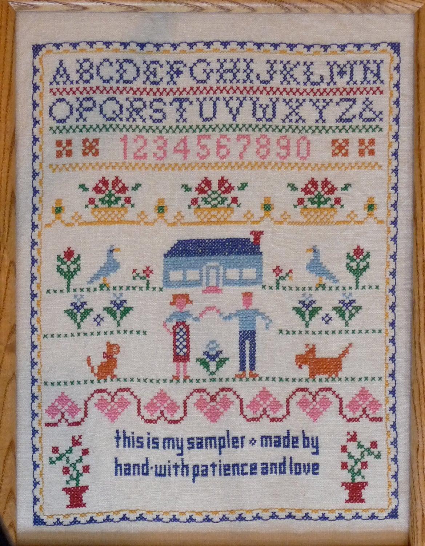 Jane snead samplers vintage stamped cross stitch kit my