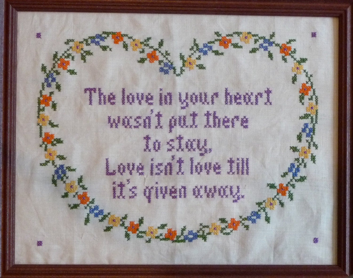 Jane snead samplers vintage cross stitch kit love in your