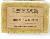 Orange & Coffee Soap . Exfoliating Soap . All Natural Soap . Handmade Soap . Essential Oil Soap . Vegan Friendly Soap