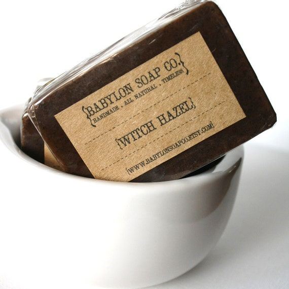 Witch Hazel Soap . Exfoliating Soap . All Natural Soap . Handmade Soap . Unscented Soap . Vegan Friendly Soap
