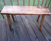Custom Order for Thea  - Primitive Bench from Reclaimed Pine - The Piedmont Puncheon