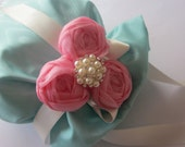 Flower Girl Bag - Soft Blue & Soft Pink - Available in all wedding colours