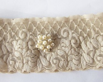 Simply Chic Bridal Garter - Champagne - Special Offer for Limited Time ONLY 30% Off