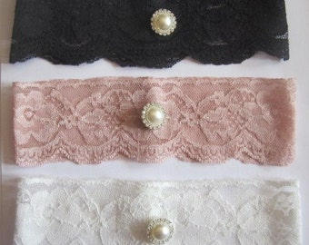 Bridal Garter  - Special Offer 20% Off  - New Lace in 6 Colours -  Simply Chic Ivory Garter (SINGLE) - The Original Simply Chic Garter