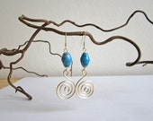 Earrings - recycled paper beads