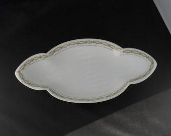 Rosenthal Bavaria Rose and Garland Rimmed Relish Plate