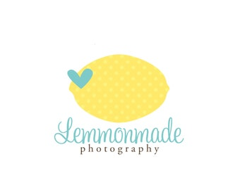 Premade Logo for Photographers and Small Crafty Boutiques Lemon and Heart
