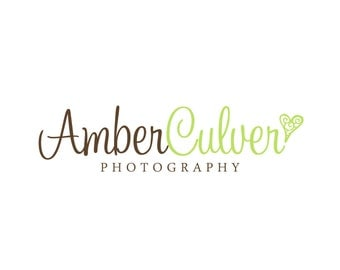 Premade Logo Design for Photographers and Small Crafty Boutiques Script Font