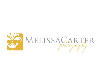 Premade Logo Design for Photographers and Small Crafty Boutiques Square Dijon Damask