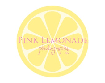 Premade Logo Design for Photographers and Small Crafty Boutiques Lemon Slice with Text