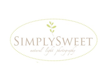 Premade Logo for Photographers and Small Crafty Boutiques Dotted Frame with Stem