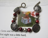 Christmas Bracelet, Silver Snowflakes and Berries