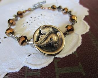 Bracelet, Vintage Button - Autumn Delight