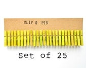Mini Clothespins - Chartreuse / Green - 25 Small