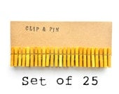 Mini Clothespins - Canary / Yellow - Small - Set of 25