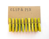 Mini Clothespins - Chartreuse / Green - Small