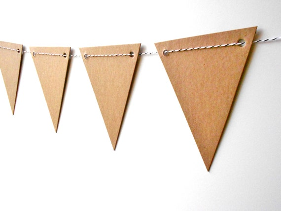 Chipboard Pennant  - DIY Bunting with Baker's Twine