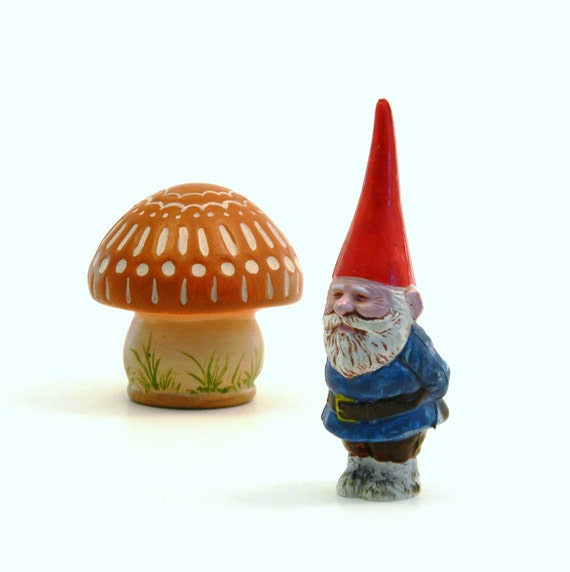 Unieboek Gnome Figurines, Vintage 1980 PVC Cuties