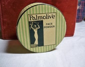 Art Deco 1920's Palmolive Face powder Box with Egyptian Maiden Graphics sealed unused