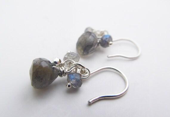 Labradorite Earrings, Sterling Silver Earrings