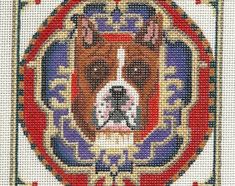 Needlepoint Dog Portrait - Boxer