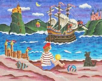 Needlepoint Fairy Tale Canvas - Sailing Away - SALE