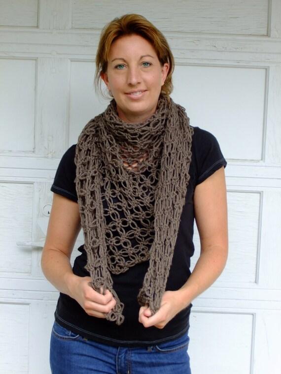 Crochet Shawl, triangle scarf, Dunfermline Shawl