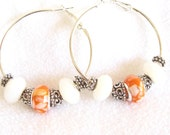 Texas Longhorn Hoop Earrings