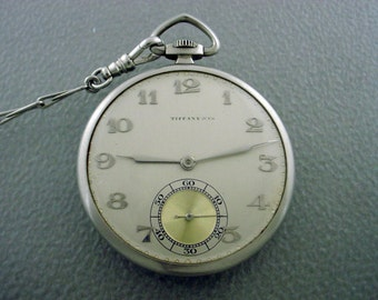 Vintage Platinum Tiffany & Co. Pocket Watch