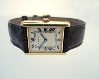 "Vintage Cartier ""Tank Louis Cartier"" Gold Watch"