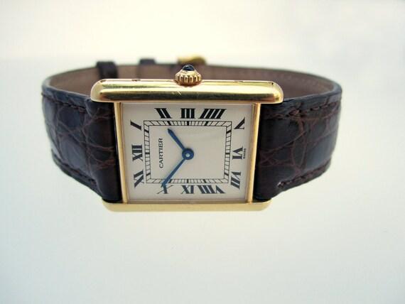 "Vintage Cartier ""Tank Louis Cartier"" Gold Watch"