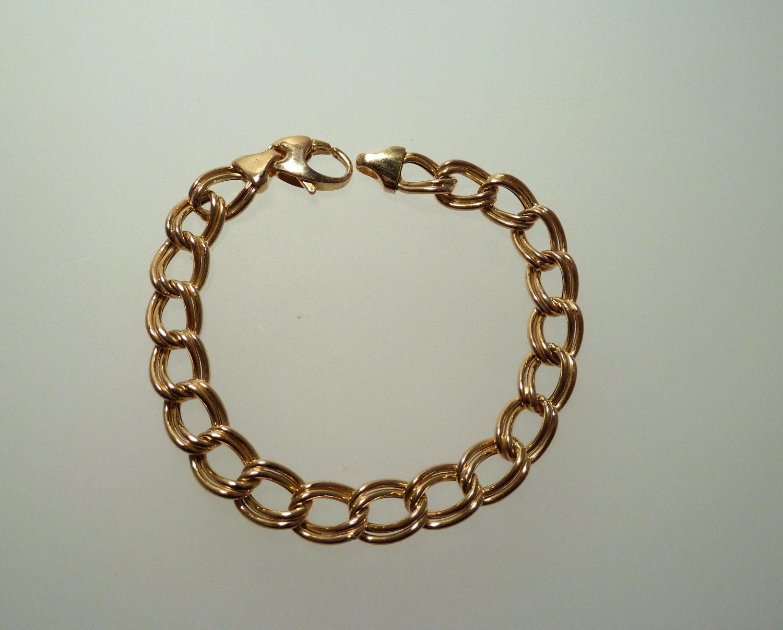 vintage 14k yellow gold charm bracelet by hudsonestate on etsy