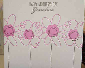 Mother's Day for Grandma Card - Grandma for Mother's Day Letterpress card
