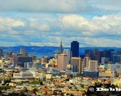 16 x 32 Panoramic, Painted Photo, Digital Print of the San Francisco City Skyline