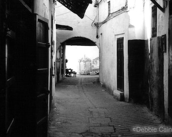 """11x14, Limited Edition, Hand-Printed Black and White Silver Gelatin Print, """"In the Depths of the Medina"""""""
