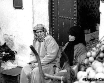 """11x14, Limited Edition, Hand-Printed Black and White Silver Gelatin Print, """"Moroccan Women"""""""