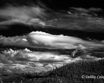 Digital photo, giclee print, 5x7, black and white infrared, Cloud Series No 3