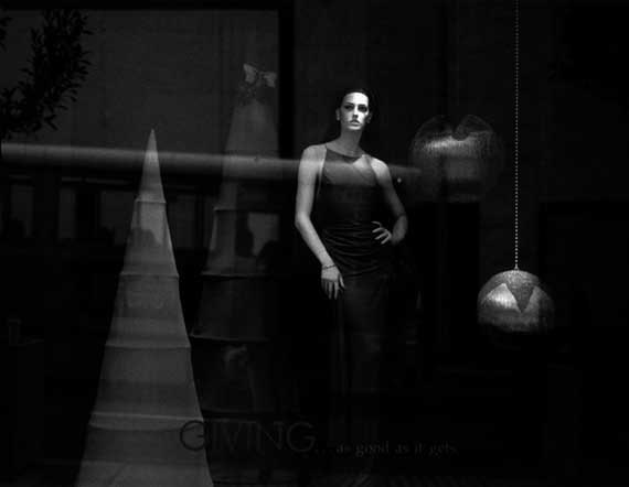 "5x7, Hand-Printed Black and White Silver Gelatin Print, ""Window Display No. 3"""