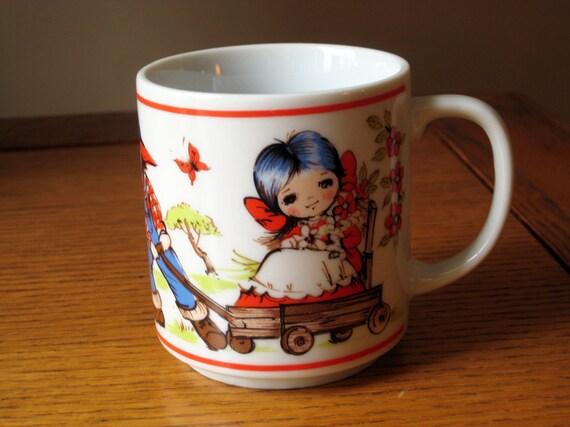 Cute Retro Illustrated Mug