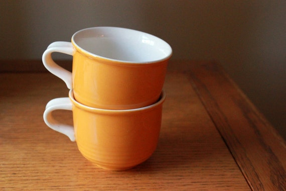 Vintage Orange Mikasa Teacups C8200