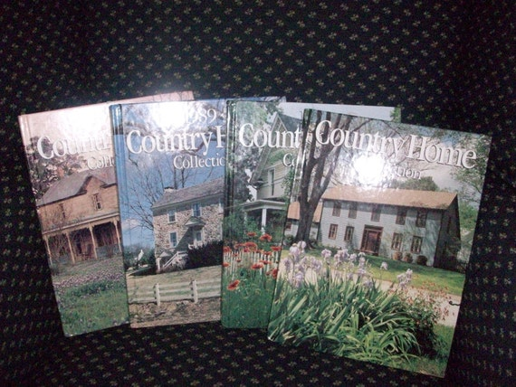 ON SALE Set of 4 vintage Country Home Collection decorating books