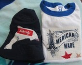 Toddler patriotic shirt and hat set for every All-American day.