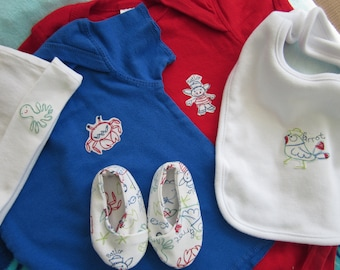 SALE--Matching red white & blue set for 9 to 12 month old boy
