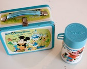 Vintage Walt Disney Metal Lunch Kit with Thermos
