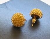 Sunburst & Gold Post Earrings