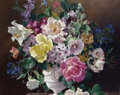 """Counted Cross Stitch Pattern: """"Vase of Flowers"""""""